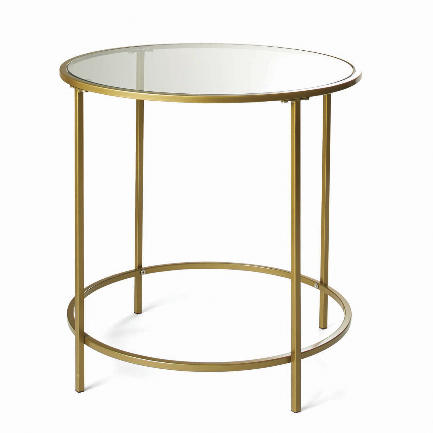 Picture of: Better Homes Gardens Nola Side Table Gold Finish Walmart Com Walmart Com