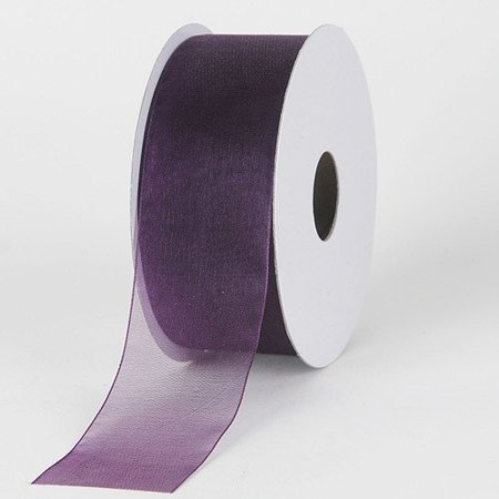 BBCrafts 1-1/2 inch x 25 Yards Sheer Organza Ribbon Decoration Wedding Party (Plum), Ship in 1 Business Day. By Generic