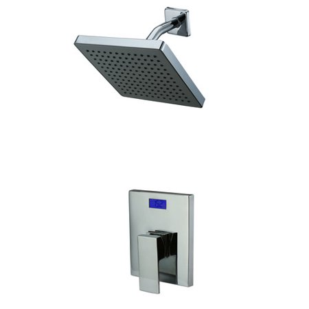 Sumerain International Group Volume Control Shower Faucet with Valve Trim and Diverter and Temperature-based LED