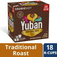 Yuban Coffee K-Cup Pods, Traditional Medium Roast Latin American Arabica Ground Coffee, Caffeinated, 18 ct - 5.57 oz Box