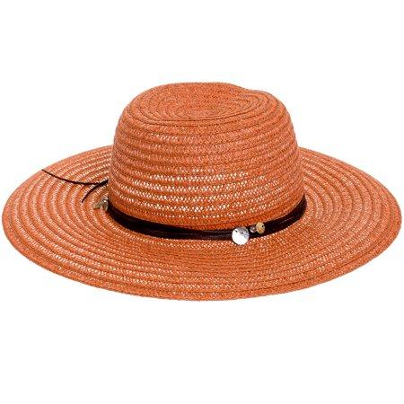 Scala Paper Braid - Scala NEW Womens Rust Toyo Big Wide Brim Paper Braid Large Floppy Beach Sun Hat