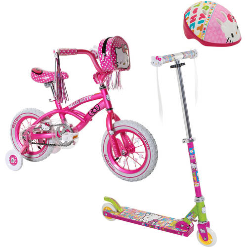 Your Choice: Hellow Kitty Scooter or Bike  w/ Safety Gears bundle