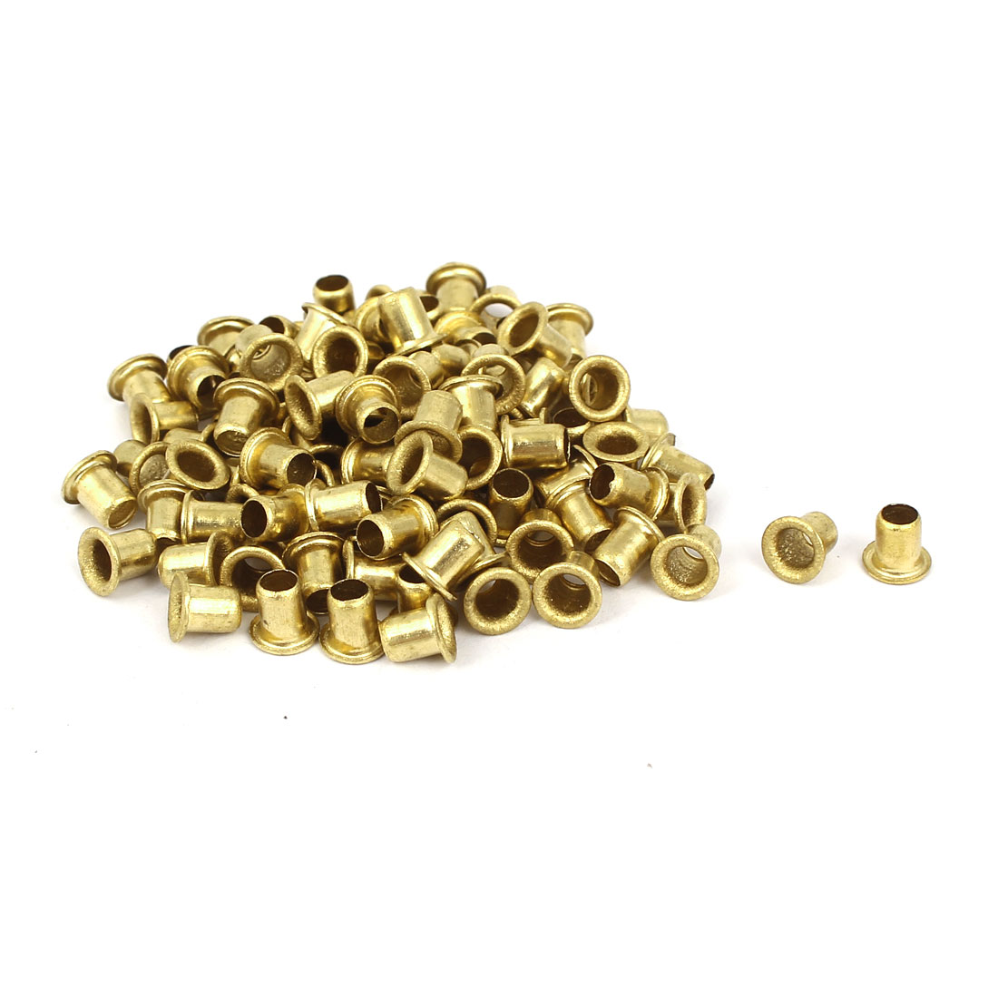 4mm x 5mm Double Sided Hollow Rivets Grommets Tool 100 Pcs