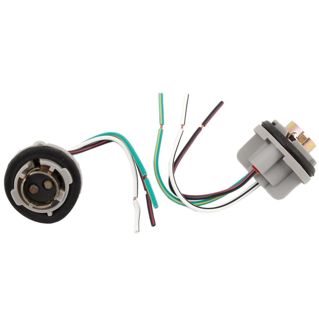 Unique Bargains 2 Pcs BA15D 1157 Auto Light Lamp Pre-wired Wiring Sockets Base Spare Part