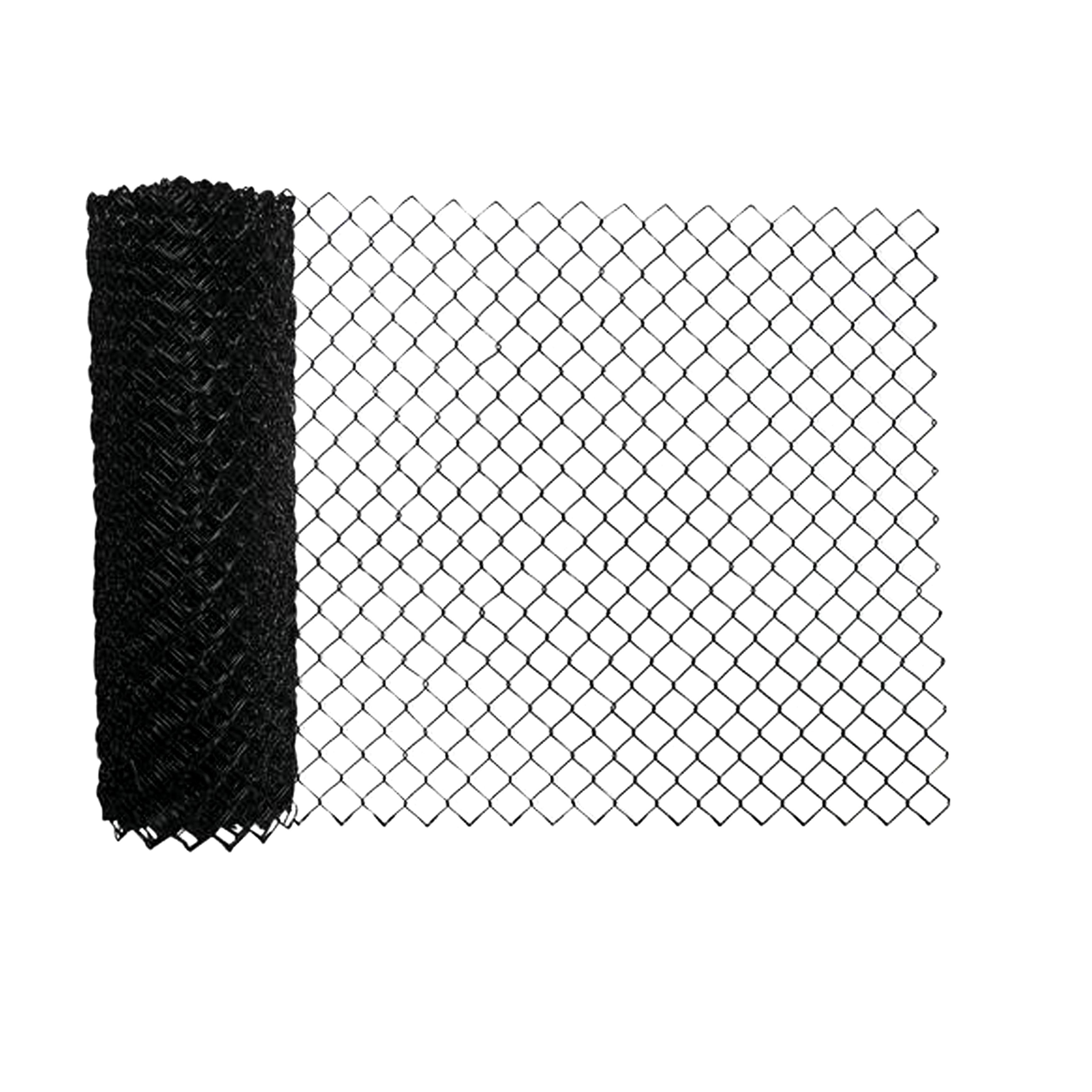 Aleko Clfb10g6x50 Galvanized Steel Chain Link Fence Fabric 10 Gauge 6 X 50 Feet Black Walmart Canada