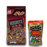 Hershey's Special Dark Chocolate Miniatures, 48 oz. Plus 8oz Coney Island Rainbow Gumballs Perfect For All Ocassions Halloweeen, Back to school, Thanksgiving, Christmas, New Years,Valentines day