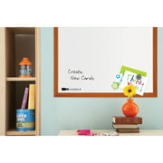 "Quartet Magnetic Dry-Erase Board, 17"" x 23"", Wood Frame"