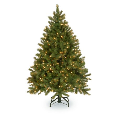 Douglas Fir Christmas Trees (National Tree Pre-Lit 6-1/2' Feel-Real Downswept Douglas Fir Hinged Artificial Christmas Tree with 650 Clear Lights )