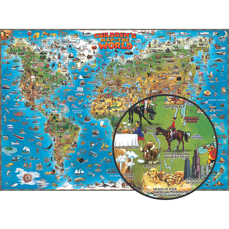 Childrens map of the world gumiabroncs Gallery