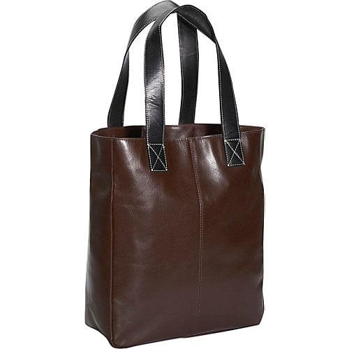 Shopping Leather Tote in Dark Brown (Dark Brown)