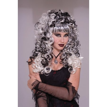 Ghost Bride Blonde & Black Costume Adult Wig