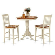 East West Furniture JAVN3-MAH-C Dining Counter Height Room Table & 2 Chairs, Jackson
