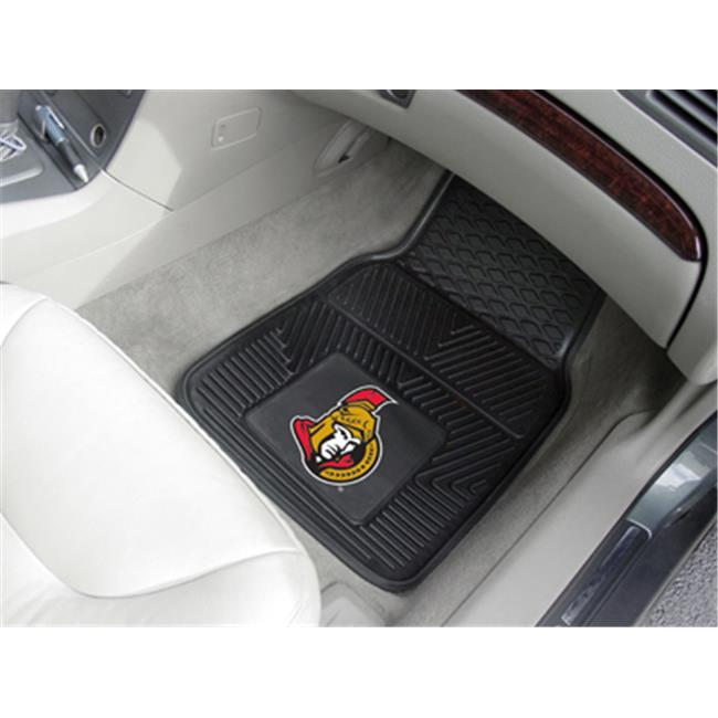 Fanmats 10427 NHL - 18 inch x27 inch  - Ottawa Senators 2-pc Heavy Duty Vinyl Car Mat Set