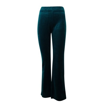 Style & Co. Women's Embellished Back Pocket Velour Sweatpants Green Velour Pants
