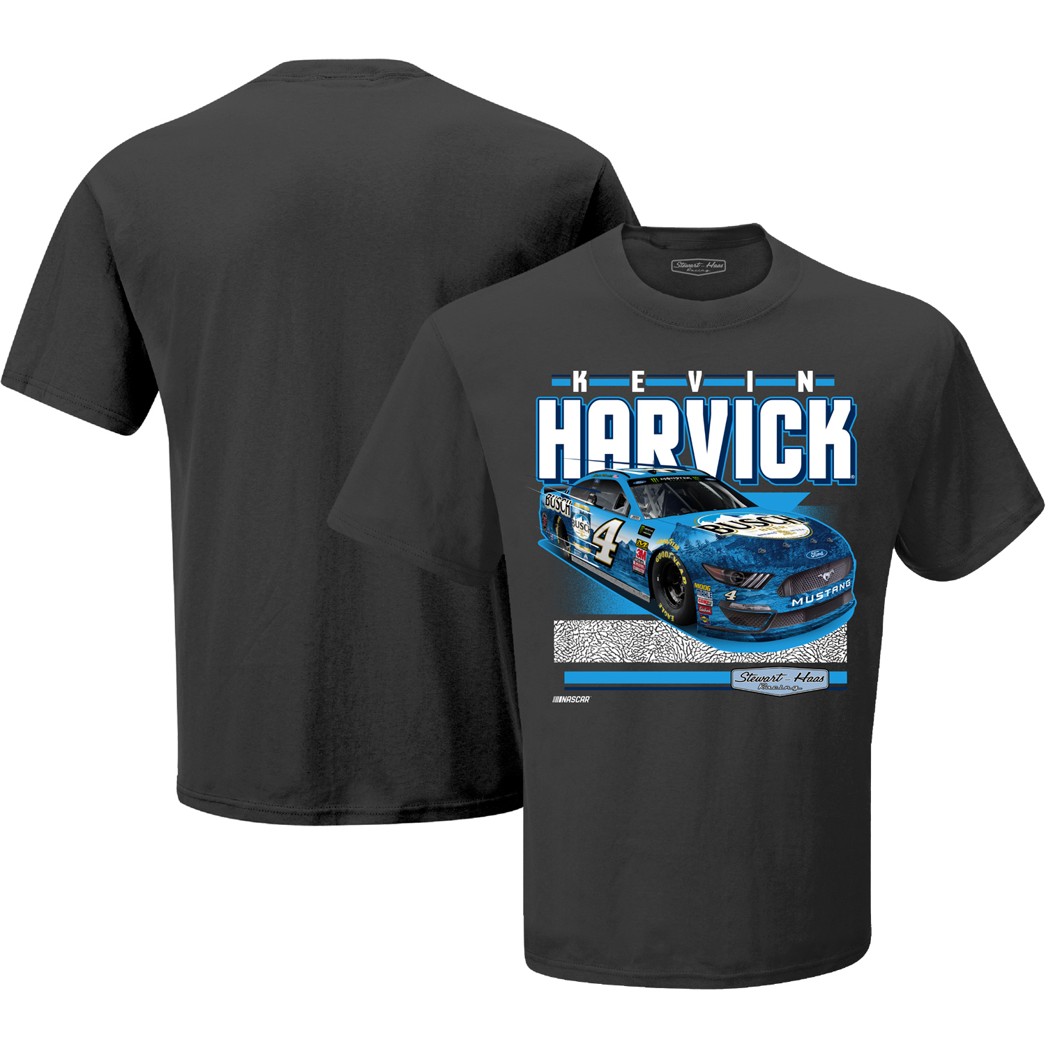 Kevin Harvick Stewart-Haas Racing Team Collection Retro Groove T-Shirt - Gray