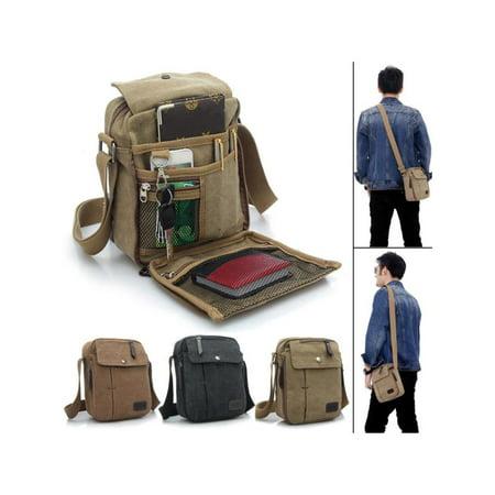 Multifuctional Retro Men Sport Canvas Shoulder Bags Messenger Bags Shoulder Bag Sling Casual Outdoor Sport Travel Hiking