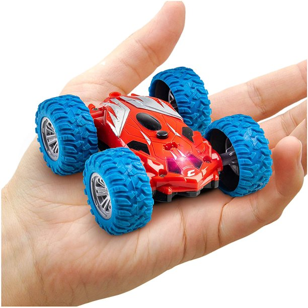 Power Your Fun Cyclone Mini Remote Control Car For Kids Double Sided Fast Off Road Mini Stunt Car Rc Toy Car For Boys And Girls Walmart Com Walmart Com