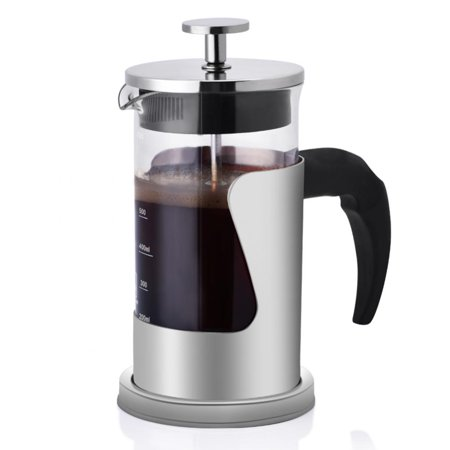 WALFRONT Coffee French Press,French Press,350ML 304 Stainless Steel & Glass Heat Resistant French Press Coffee & Tea Makers Pot - image 6 of 7
