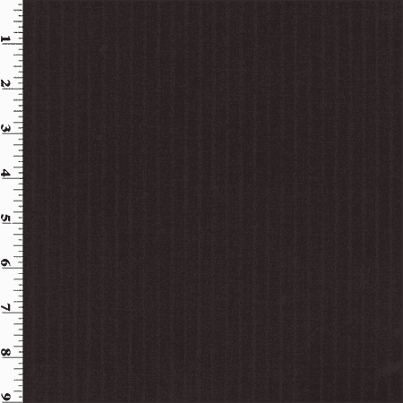 Black Stripped Wool Gabardine Suiting, Fabric By the Yard