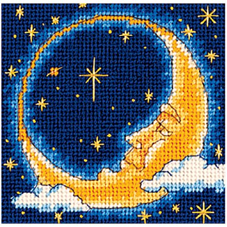 Dimensions  Moon Dreamer  Mini Needlepoint Kit  5  X 5   Stitched In Yarn