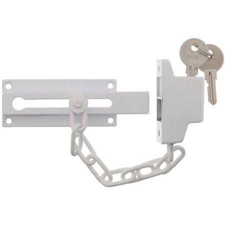 "Ultra Hardware 44811 6.5"" White Door Guard Chain"