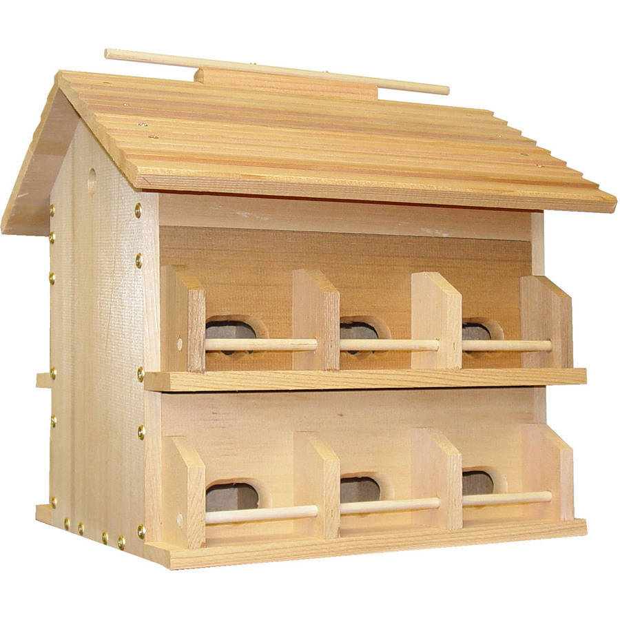 Heath Outdoor Products Wood Starling Resistant Martin Bird House