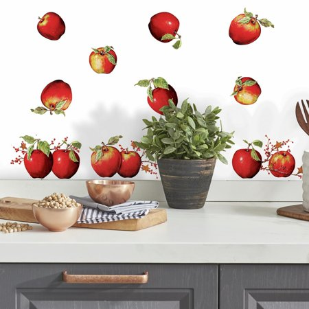 New COUNTRY APPLES Stars & Berries 40  WALL DECALS Border Stickers Kitchen Decor
