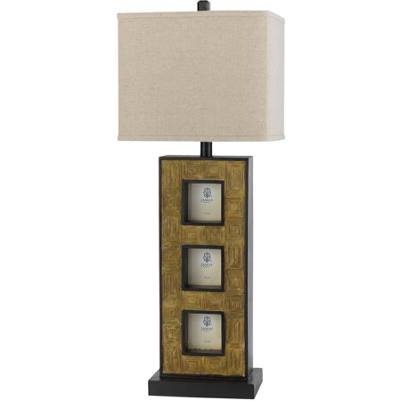 "Table Lamps 1 Light Fixture With Cocoa Tone Finish Resin Material E26 9"" 100 Watts"
