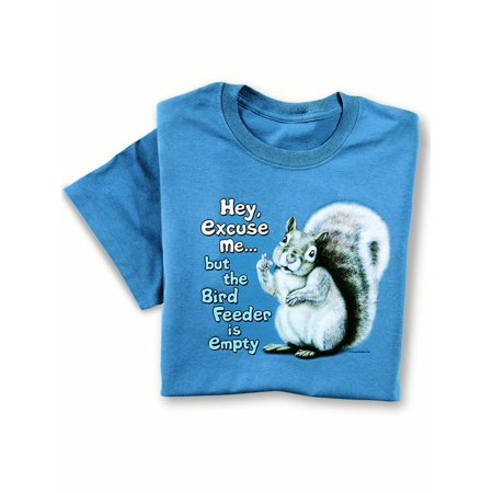 Something Old New Borrowed Blue Ideas (The Birdfeeder Is Empty Funny Saying with Squirrel Novelty T-Shirt - Funny Gift Idea for Animal Lovers, Medium,)