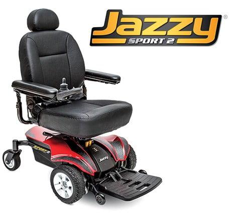 Pride Mobility JAZZYSPORT2 Jazzy Sport 2 Electric Wheelchair - Red