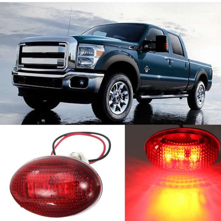 LED Sidemarker  Side Marker Dually Bed Light Red/ Amber Lamp For  F350 Series 1999-2010 - image 6 of 9