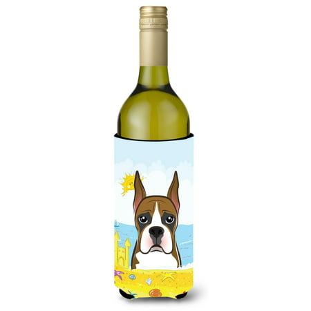 Boxer Summer Beach Wine Bottle beverage Insulator Hugger BB2091LITERK