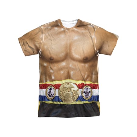 Rocky MGM Film Series Rocky Muscles Torso Costume Adult Front Print T-Shirt - This Is Halloween Version Rock