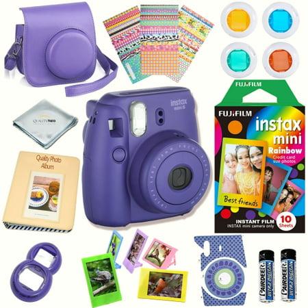 Fujifilm instax mini 8 camera grape massive bundle for for Instax mini 8 housse