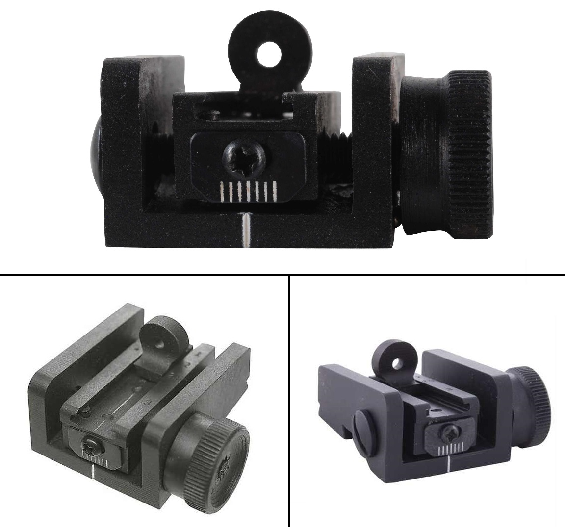 Ultimate Arms Gear M1 M-1 Carbine Rifle Precision Steel Matte Peep Aperture Rear Sight Assembly Adjustable Windage and Elevation