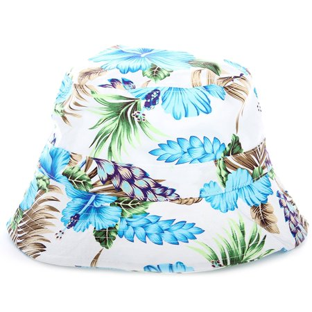 5eba12ac58e32b Enimay - Enimay Unisex Printed Colored Bucket Hat Patterned Summer Sun Caps  Floral White | Blue Habiscus One Size - Walmart.com