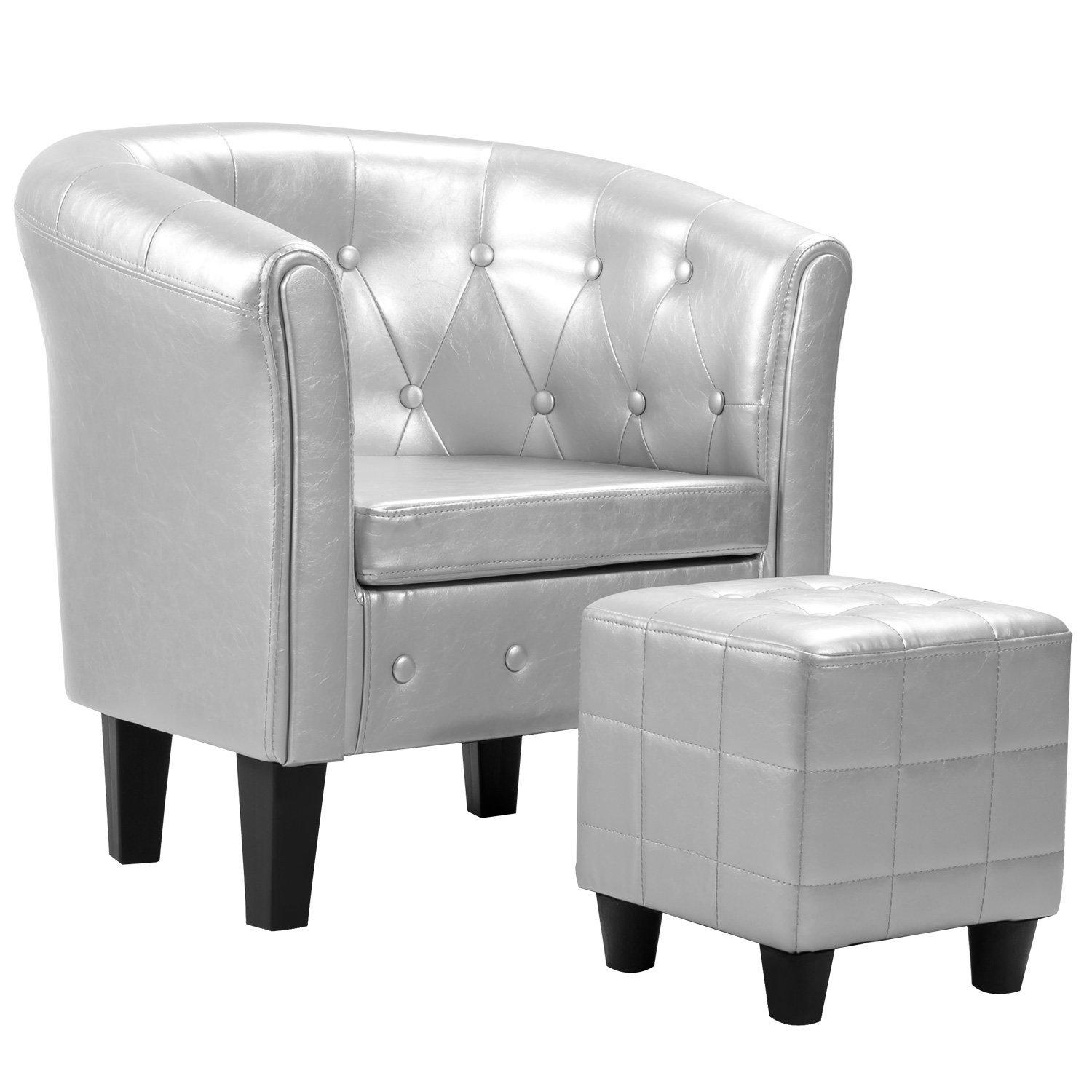 Harper&Bright Designs Armchair Upholstered Living Room Club Chair with Ottoman