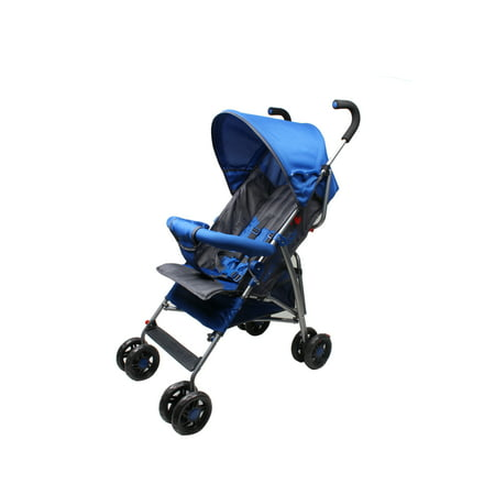 Wonder Buggy Dakota Deluxe Two Position Stroller With Canopy & Storage Basket - Royal Blue