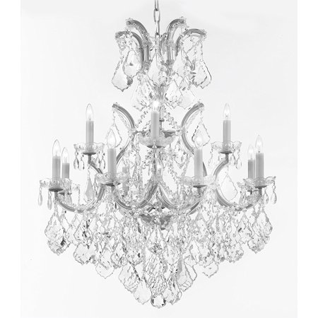 - Maria Theresa Crystal Chandelier With Luxe Diamond Cut Crystals