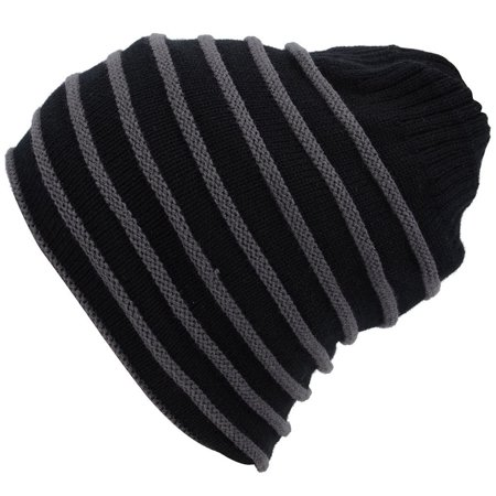 Simplicity Winter Cable Knit Slouchy Bun Ponytail Ski Beanie for Men