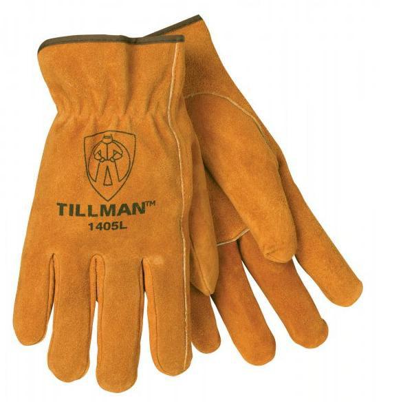 Tillman 1405 Brown Shoulder Split Cowhide Drivers Gloves, Small