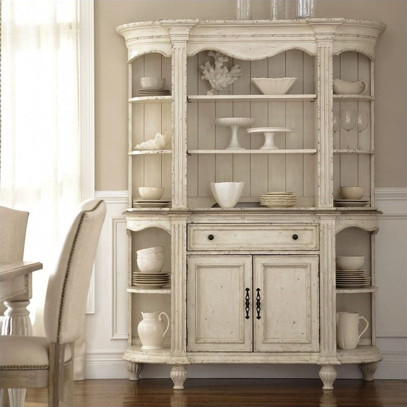 Riverside Furniture Coventry Two Tone China Cabinet in Dover White by Riverside Furniture