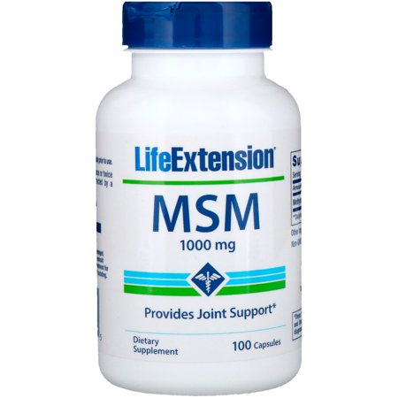 Life Extension  MSM  1000 mg  100 Capsules