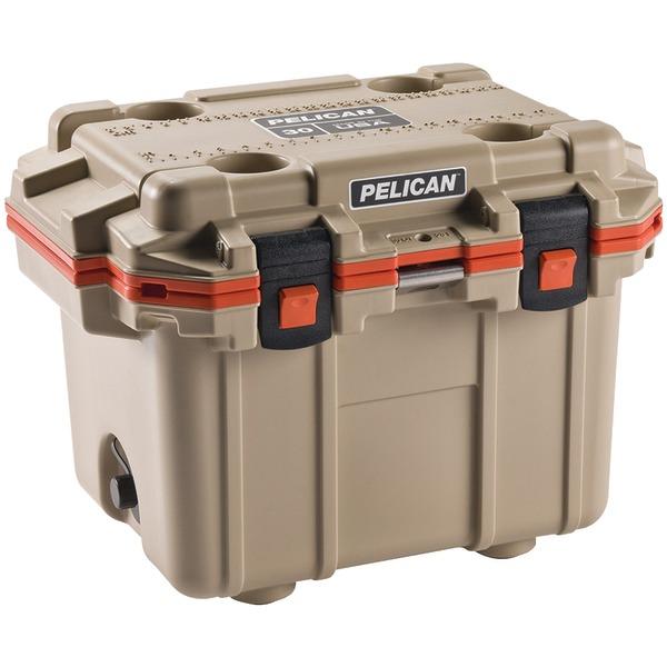 Pelican Elite Cooler, Tan/Orange, 30 qt.