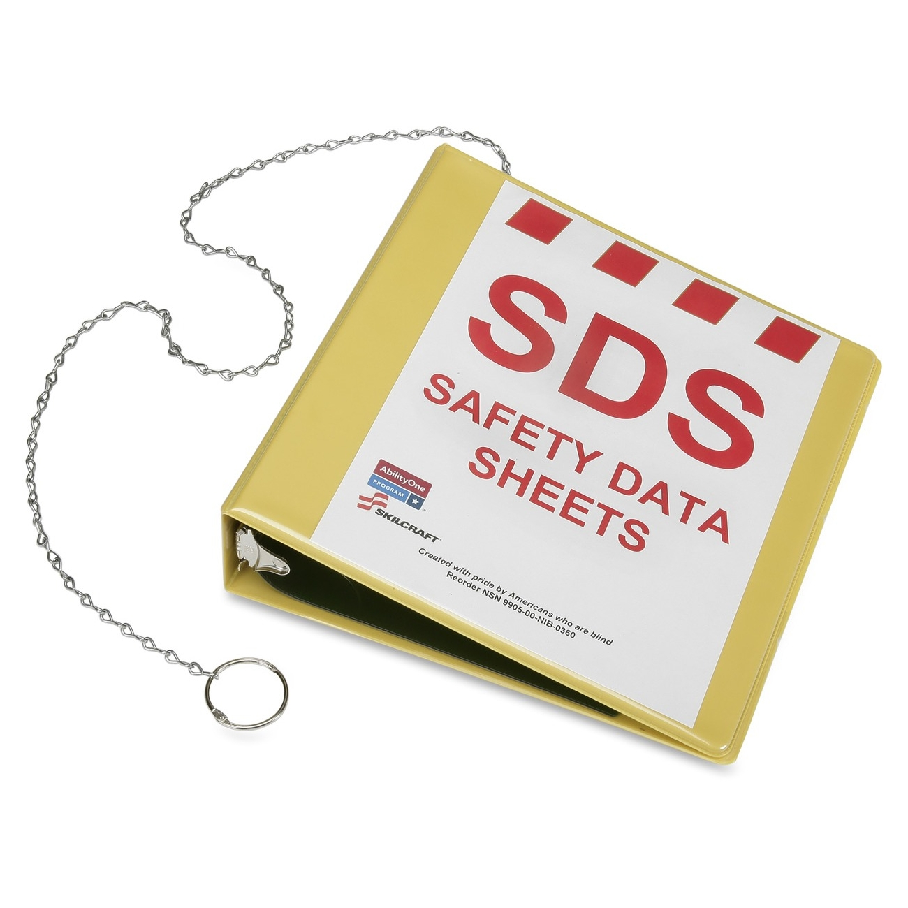 "Skilcraft Safety Data Sheets Sds Yellow Binder - 2"" Binder Capacity - 375 Sheet Capacity - Plastic - Yellow - 1 Each (nsn-6236240)"