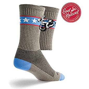 "Socks - SockGuy - Crew 6"" Wheelie L/XL Cycling/Running"