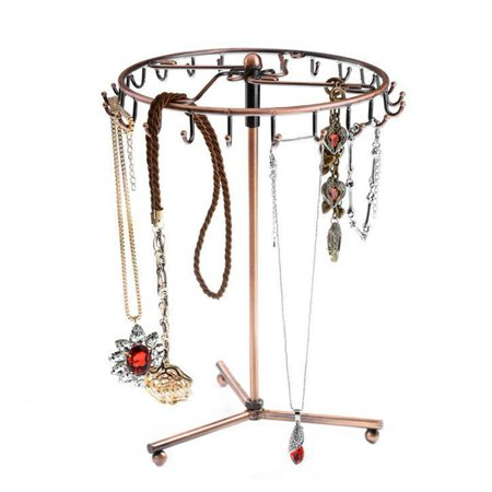 Sports Strand Necklace - Rotating Jewelry Tree Holder Organizer Bracelet Necklace Display Stand Rotating and Bracelet Tree 23 Hooks At A Glance
