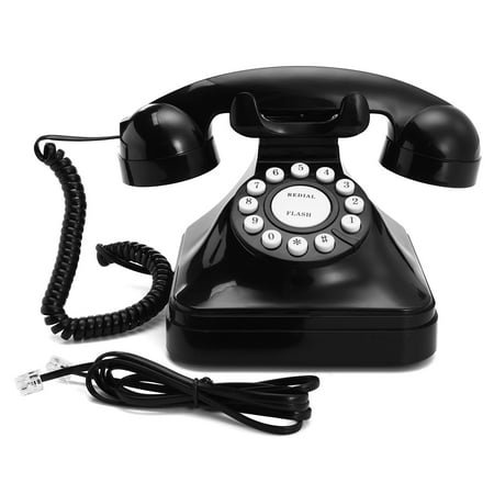 Mrosaa Vintage Retro Antique Telephone Phone Wired Cored Landline Home Desk Office Decoration ()