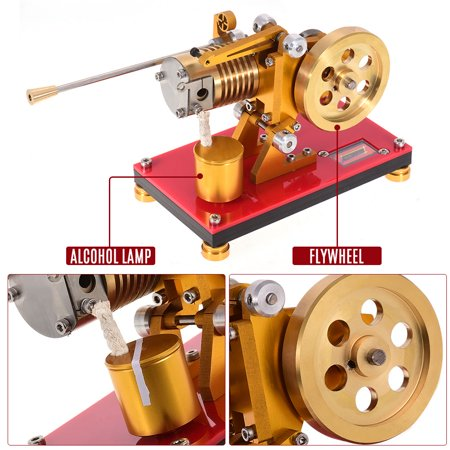 Flame Licker Stirling Engine Model Mini Hot Air Stirling Engine Generator Model Scientific Experiment Education Toy with Tool - Toy Engine Kit