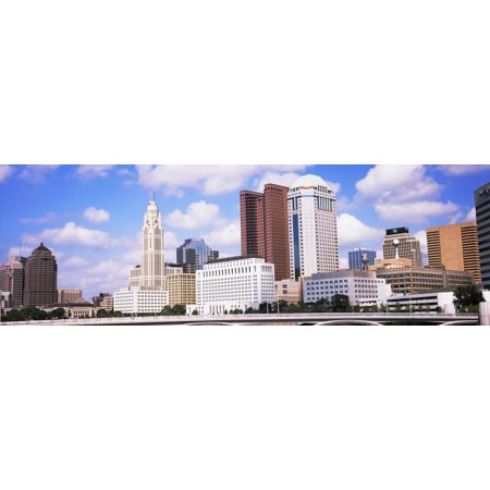 Bridge across the Scioto River with skyscrapers in the background Columbus Ohio USA Poster Print by Panoramic Images - Halloween Usa Columbus Ohio